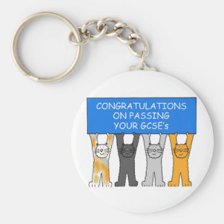 Congratulations on passing your GCSE's Basic Round Button Key Ring