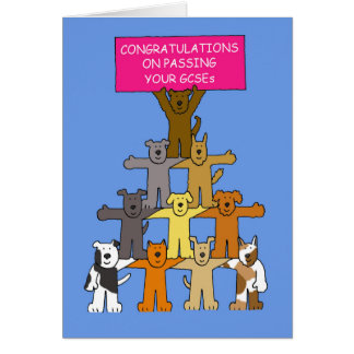 Congratulations on passing your GCSEs. Card