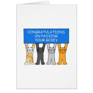 Congratulations on passing your GCSE's Greeting Card