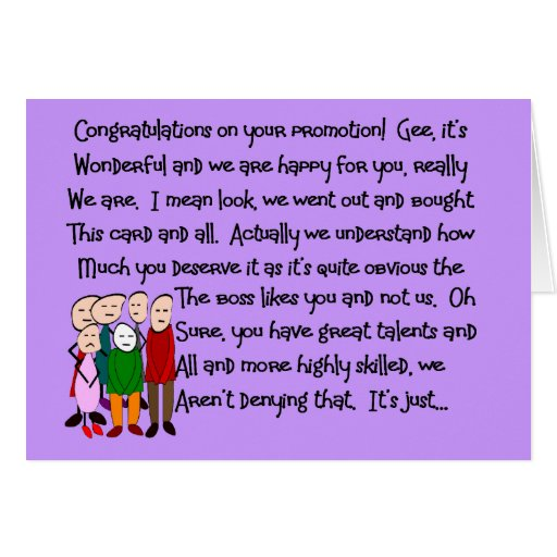 Congratulations on Promotion Cards & Gifts