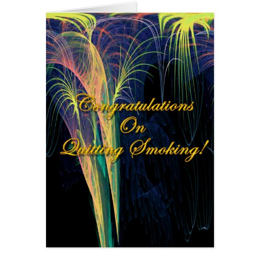 Congratulations On Quitting Smoking Card