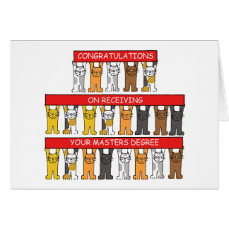 Congratulations on receiving your Masters Degree Greeting Card