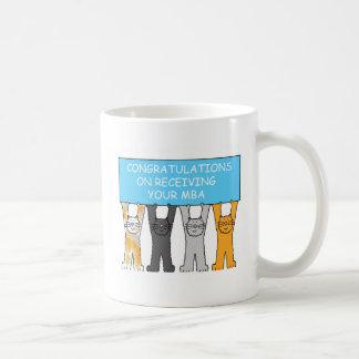 Congratulations on receiving your MBA, cartoon cat Coffee Mug