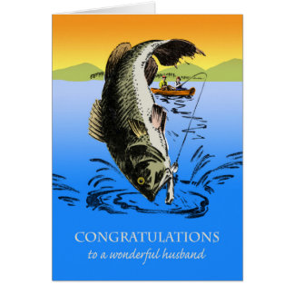 Congratulations on Retirement for Husband, Fishing Card