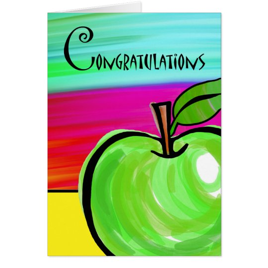 Congratulations on Teacher Retirement, Green Apple Card