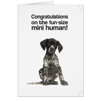 Congratulations on the mini human (GSP) - Card