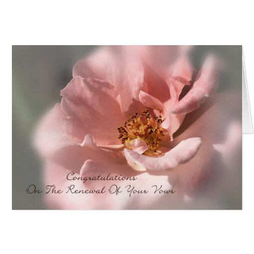 Congratulations On The Renewal Of Your Vows - Rose Greeting Card