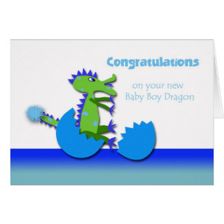 Congratulations on Year of the Dragon Baby Boy Card