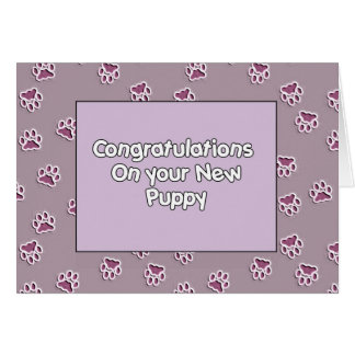 Congratulations On You New Puppy Greeting Card