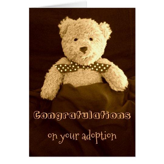Congratulations on Your Adoption Teddy Bear Card