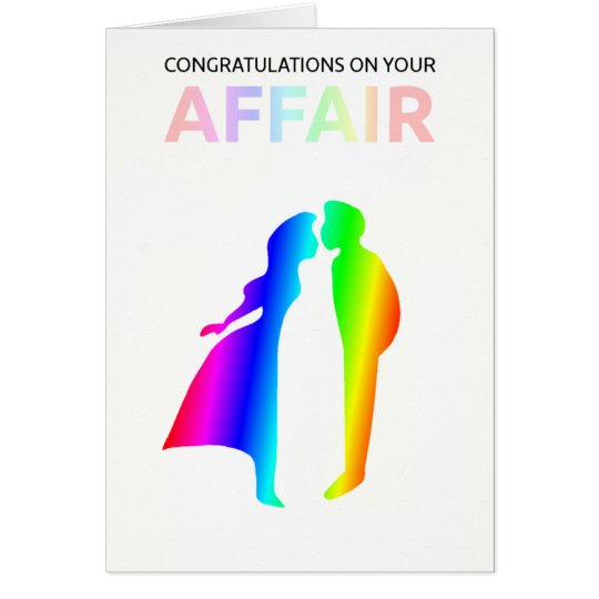 """Congratulations on your affair"" card"