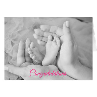 Congratulations on your Baby Girl Card