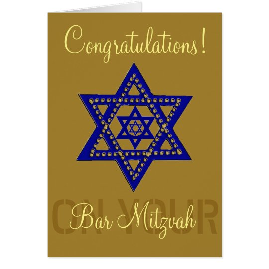 Congratulations on your Bar Mitzvah Card