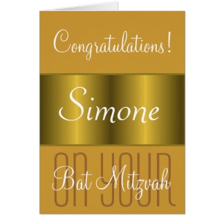 Congratulations on your Bat Mitzvah Card