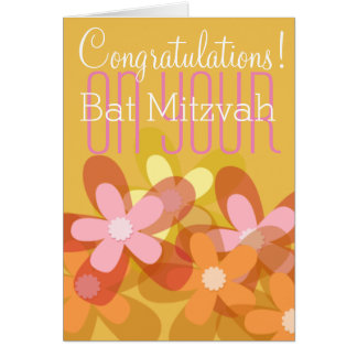 Congratulations on your Bat Mitzvah floral Card
