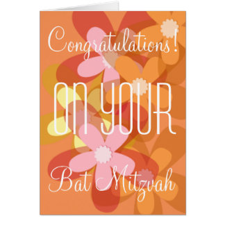 Congratulations on your Bat Mitzvah floral Greeting Card