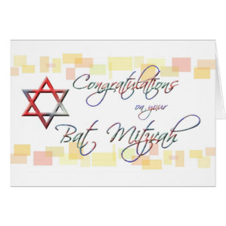Congratulations on your Bat Mitzvah-Fun/Colorful Card