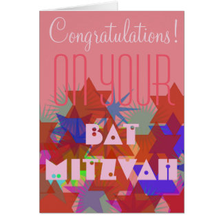 Congratulations on your Bat Mitzvah Greeting Card