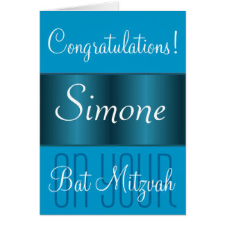 Congratulations on your Bat Mitzvah Greeting Cards