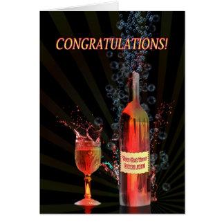Congratulations on your boob job, splashing wine card