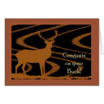 Congratulations on Your Buck, Deer Greeting Card
