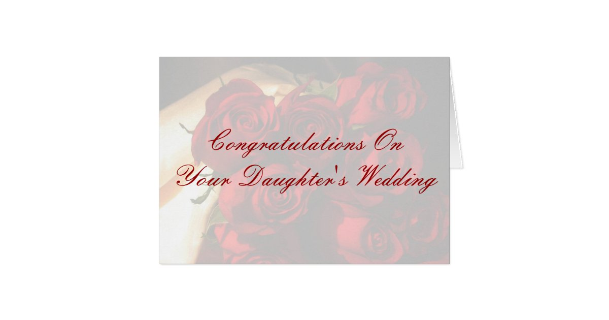 Congratulations On Your Daughter39s Wedding Card