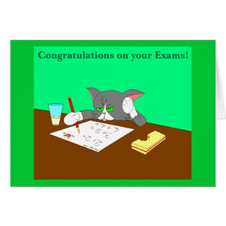 Congratulations on your Exams! Greeting Card
