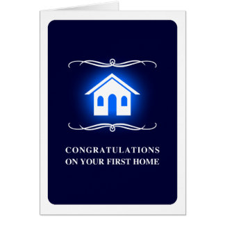 congratulations on your first home : mod home stationery note card