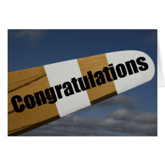 Congratulations on your First Solo Flight Pilot Greeting Card