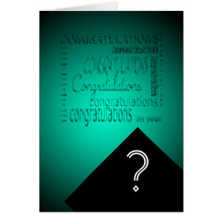Congratulations on Your Graduation #2 Customizable Greeting Card