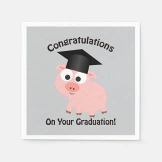 Congratulations on Your Graduation! Pig Disposable Serviettes