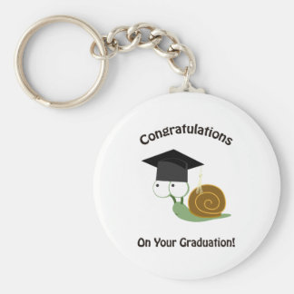 Congratulations on Your Graduation Snail Basic Round Button Key Ring