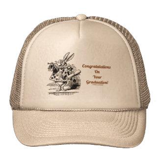 Congratulations On Your Graduation (White Rabbit) Mesh Hats