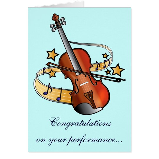Congratulations on Your Music Performance Card