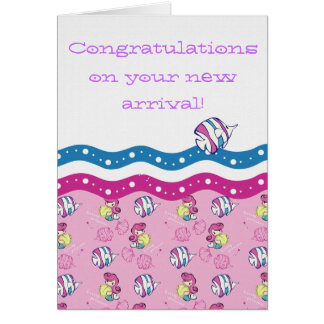 Congratulations on your new arrival! greeting card