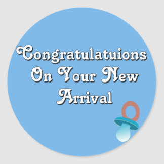 Congratulations On Your New Arrival Stickers