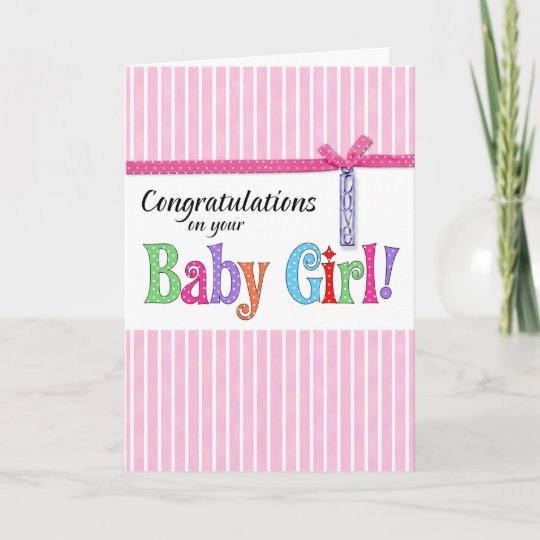 Girl Newborn Birth Baby Pregnancy Congratulations Cards