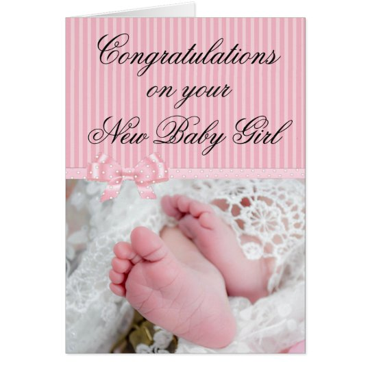 Congratulations on your New Baby Girl Pink Card