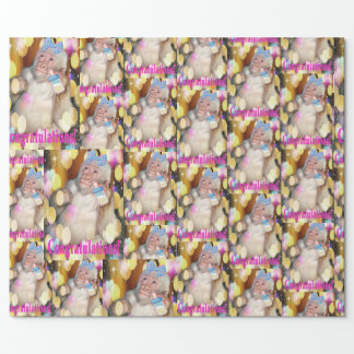 Congratulations! on your new baby girl! WRAP PAPER
