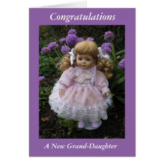 Congratulations on your new grand daughter greeting card