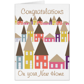 Congratulations on your new home card