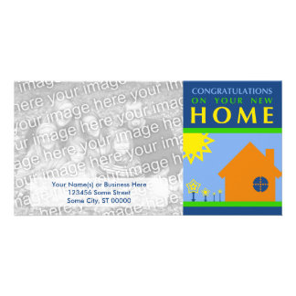 congratulations on your new home (color shapes) photo cards
