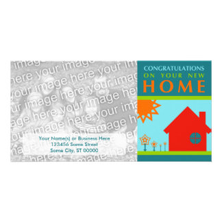 congratulations on your new home (crayola shapes) photo card template