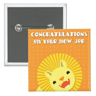 Congratulations on your new JOB! career lion 15 Cm Square Badge
