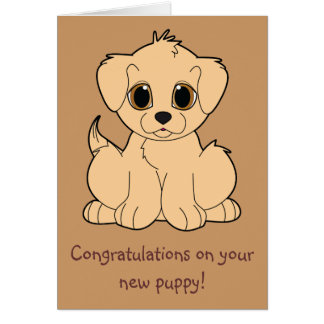 Congratulations on Your New Puppy Greeting Card