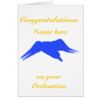 Congratulations on your Ordination, Add name front Greeting Card