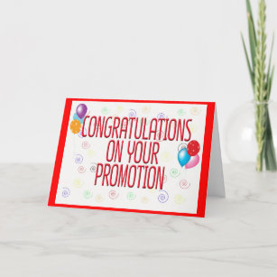 On Your Promotion Congratulations Cards Zazzlecouk