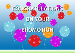 on your promotion congratulations cards zazzle co uk