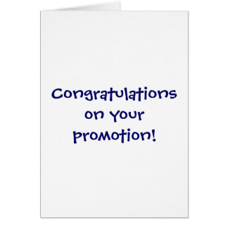 Congratulations on your promotion! card