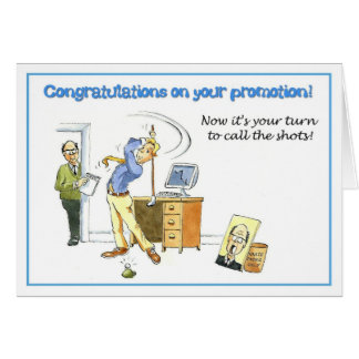 Congratulations on your promotion. card